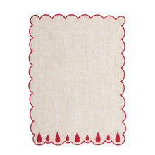 Load image into Gallery viewer, Lagrimas Red Cocktail Napkin (Set of 4)