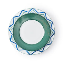 Load image into Gallery viewer, Golden Green Dessert Plate