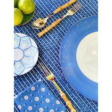 Load image into Gallery viewer, Golden Blue Dinner Plate