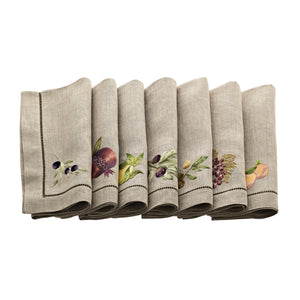 Umbria Natural Linens, Set of 6