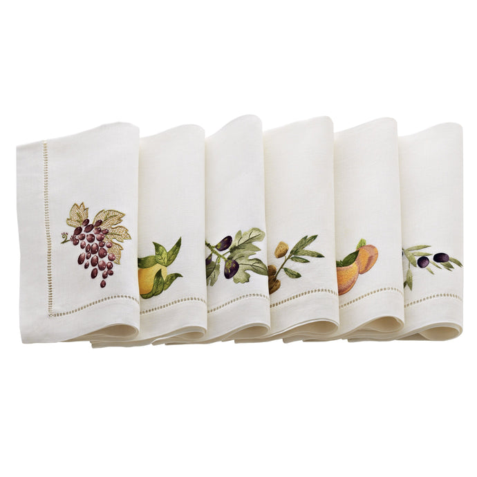 Umbria White Linens, Set of 6