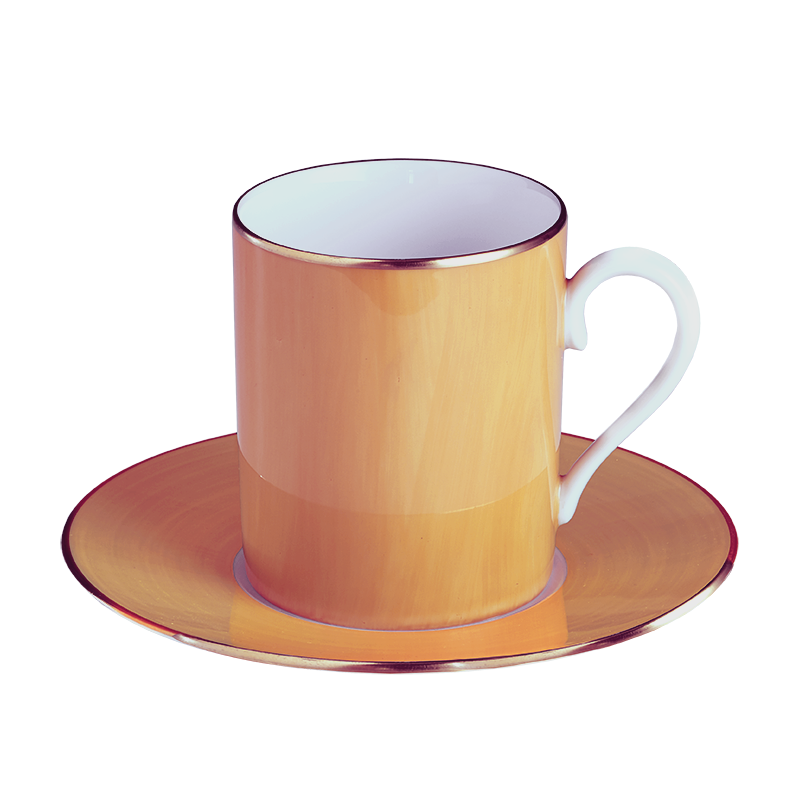 Lexington Cantaloupe Tall Cup & Saucer