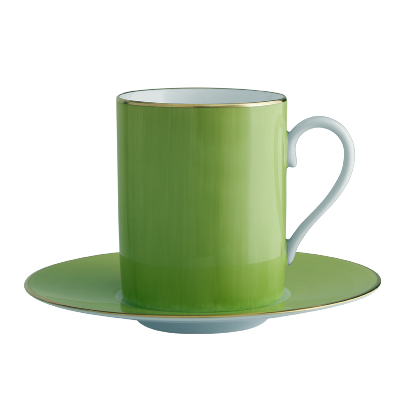 Lexington Green Tall Cup & Saucer