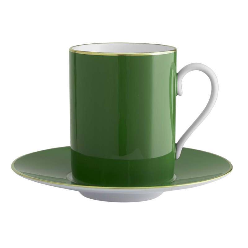 Lexington English Green Tall Cup & Saucer