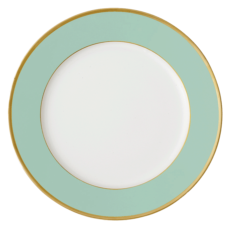 Arc en Ciel Mint Dinner Plate