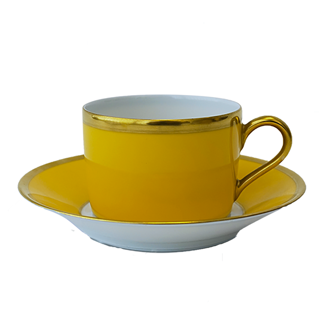 Arc en Ciel Yellow Tea Cup & Saucer