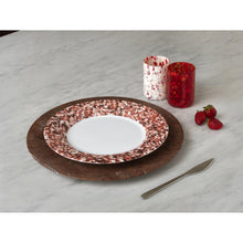 Load image into Gallery viewer, Macchia su Macchia Red Mix Plate, Set of 6