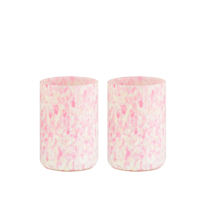 Macchia su Macchia Ivory & Pink Glass, Set of 6