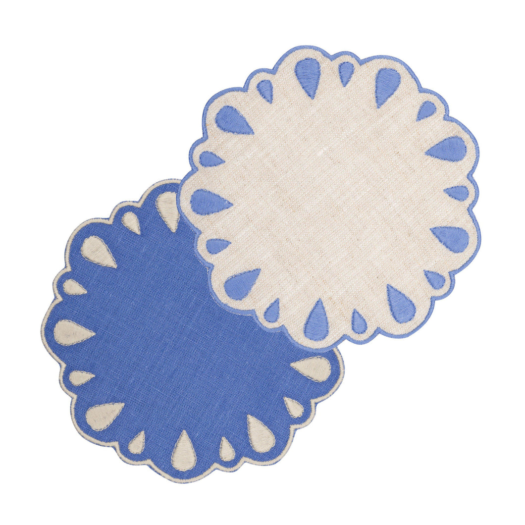 Lagrimas Blue Coaster, Set of 4