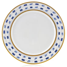 Load image into Gallery viewer, La Bocca Blue Dinner Plate