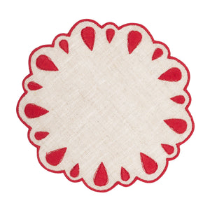 Lagrimas Red Coaster, Set of 4