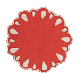 Lagrimas Red Coaster (Set of 4)