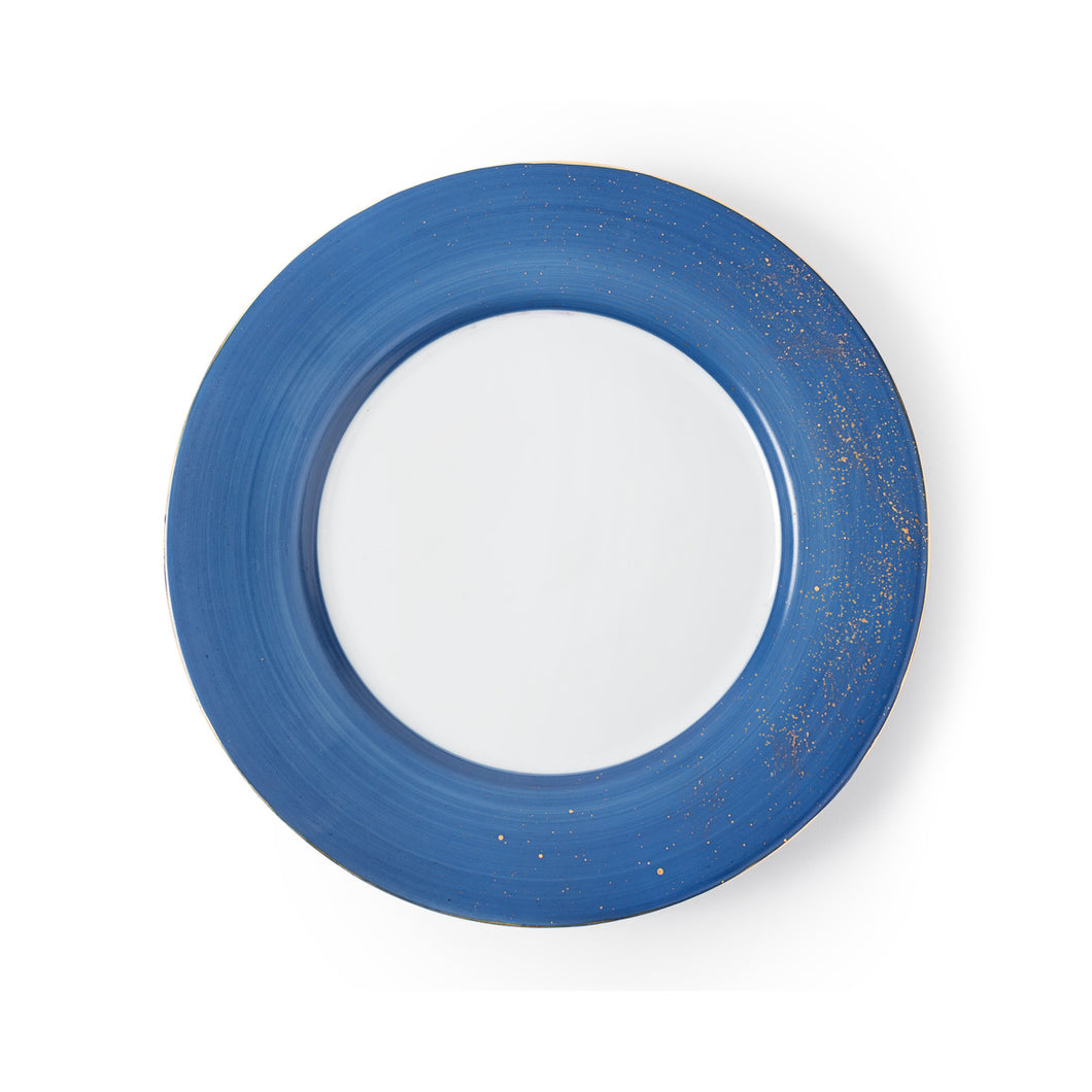 Golden Blue Dinner Plate