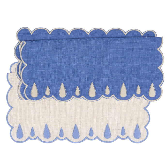 Lagrimas Blue Cocktail Napkin (Set of 4)