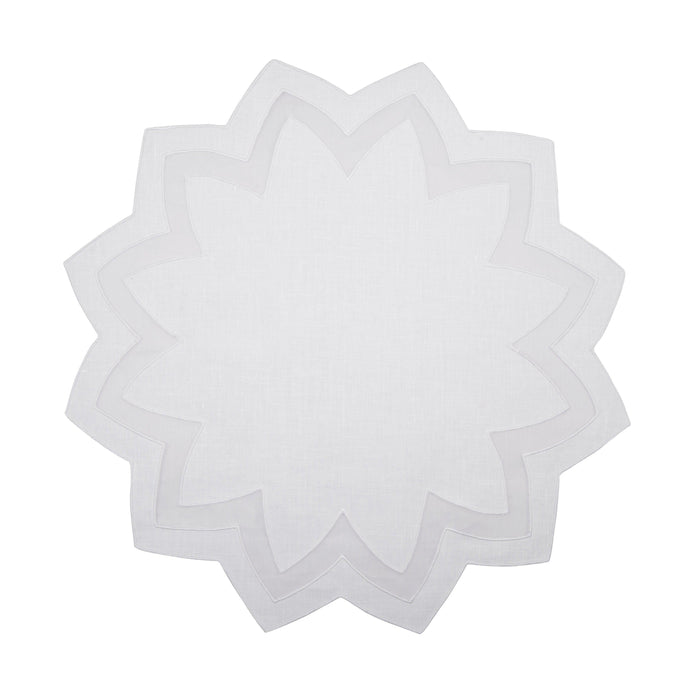 Marina White Placemat, Set of 4