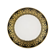 Load image into Gallery viewer, Oasis Black and Gold Bread & Butter Plate