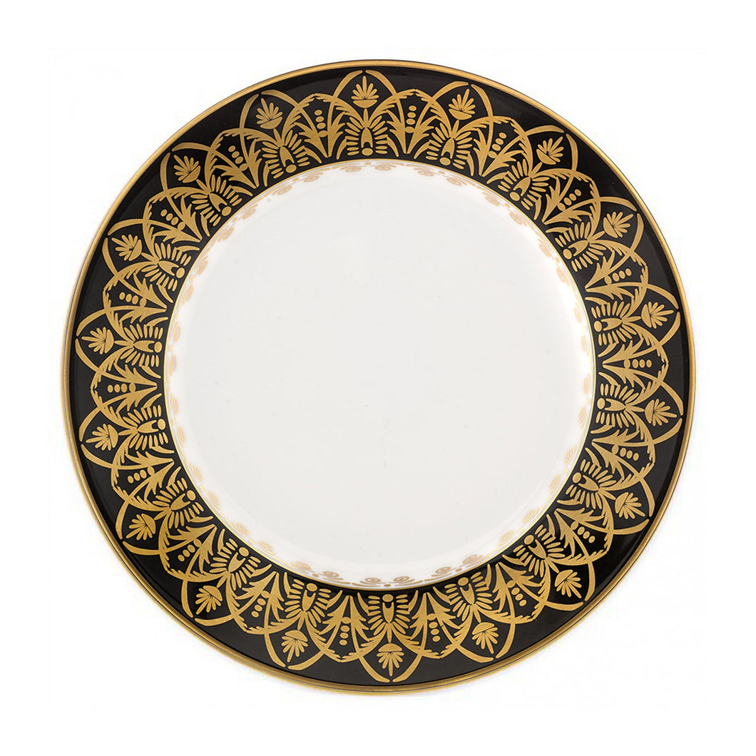 Oasis Black and Gold Dessert Plate