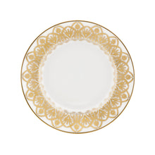 Load image into Gallery viewer, Oasis White and Gold Bread & Butter Plate
