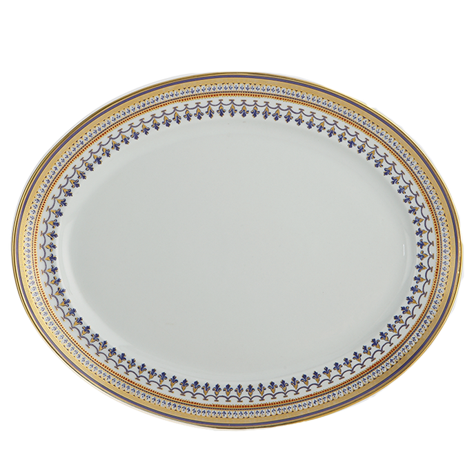 Chinoise Blue Oval Platter