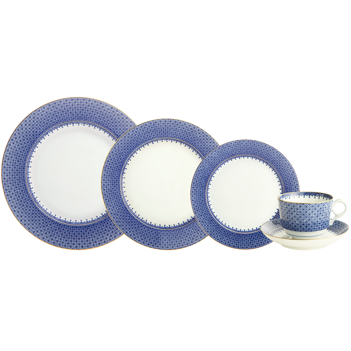 Blue Lace 5 Piece Place Setting