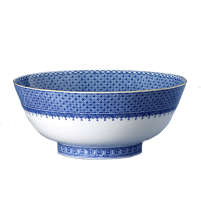 Blue Lace Salad Bowl
