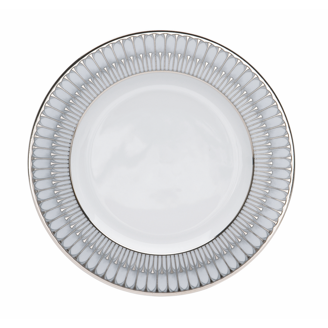 Arcades Dinner Plate Gray/Platinum