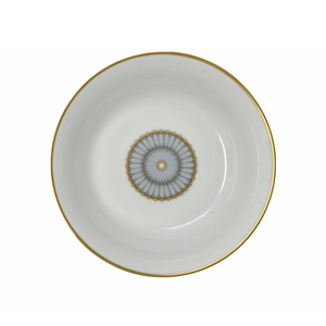 Arcades Soup/Cereal Plate Gray/Gold