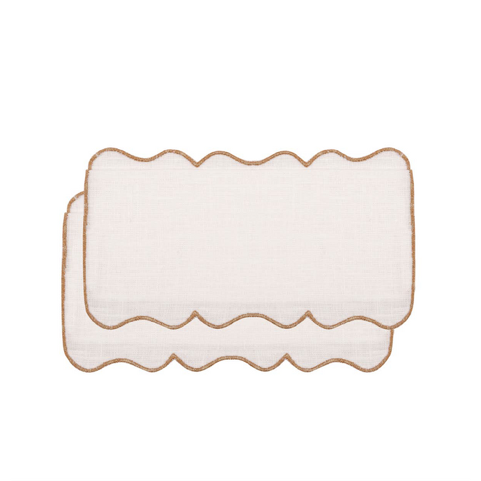 Setas Gold Cocktail Napkin, Set of 4