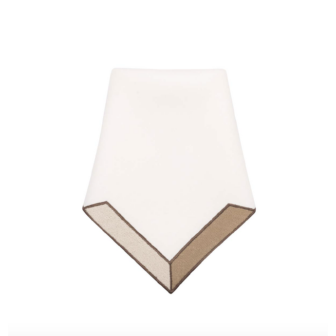 Triangu Beige Napkin, Set of 4