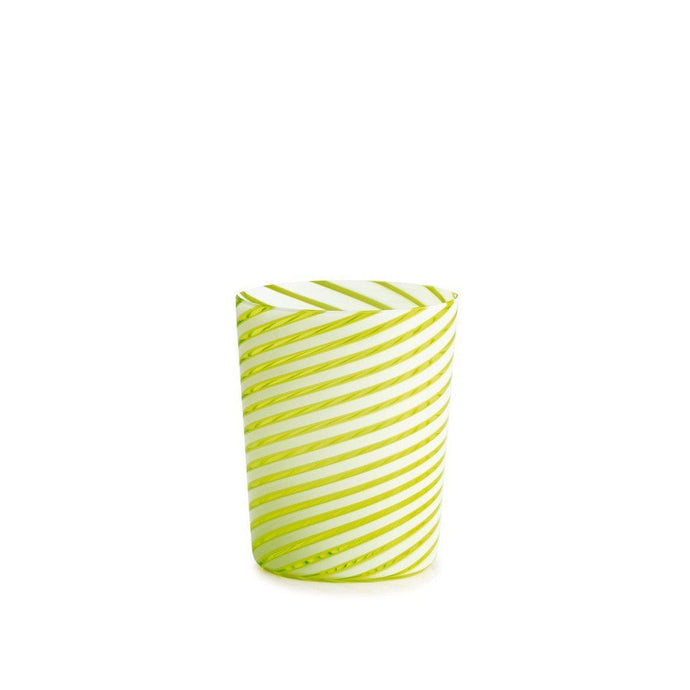 Twist Green Glass (Set of 6)