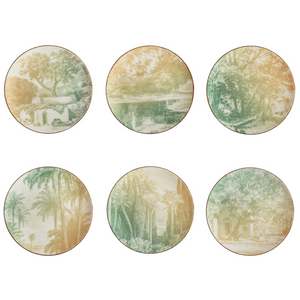 Galtaji Dessert Plate 4, Set of 6