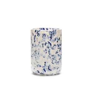 Ivory & Blue Glass (Set of 6)