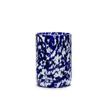 Load image into Gallery viewer, Macchia su Macchia Ivory & Blue Mix Glass, Set of 6