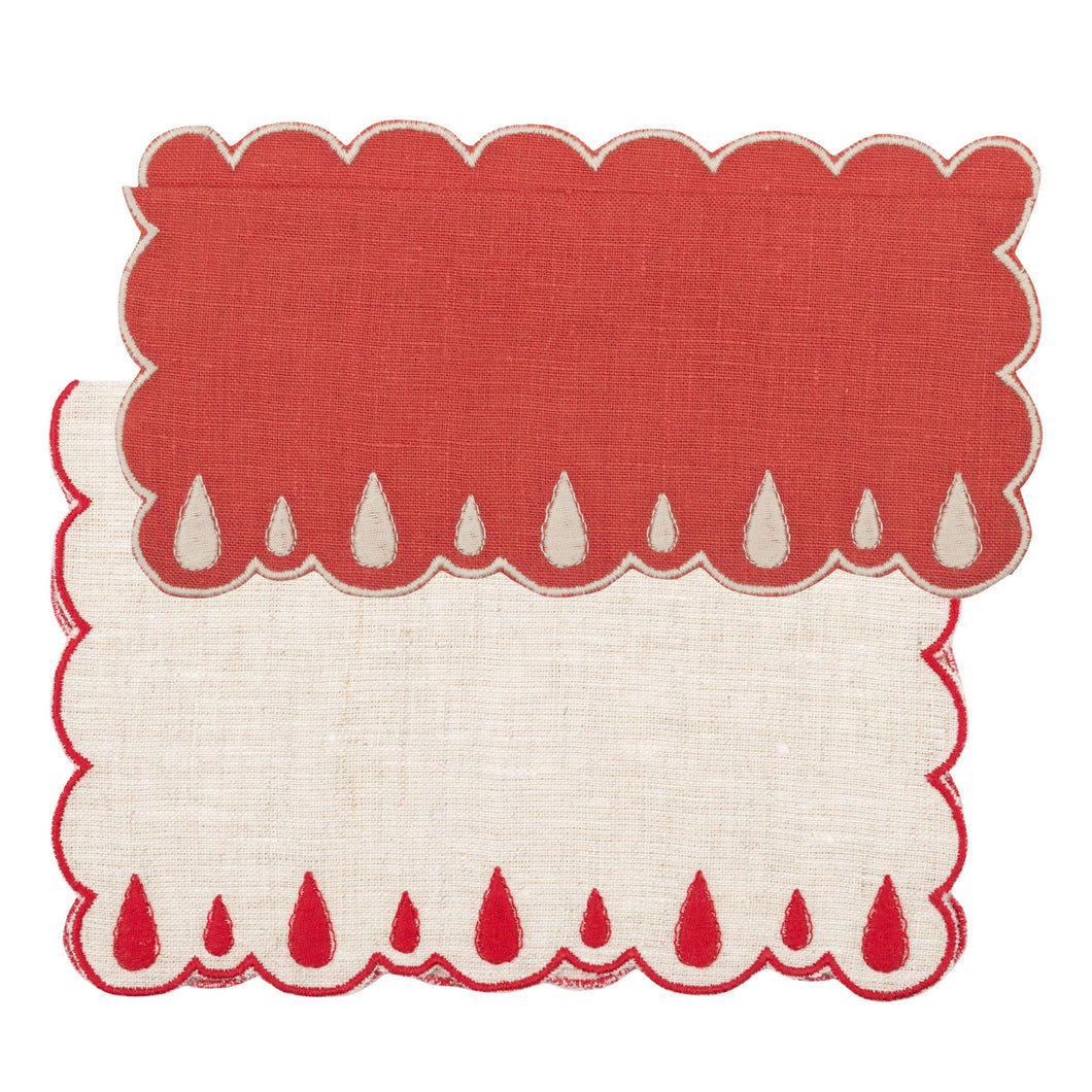Lagrimas Red Cocktail Napkin (Set of 4)