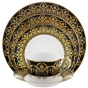 Oasis Black and Gold Bread & Butter Plate