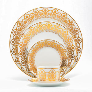 Oasis White and Gold Bread & Butter Plate