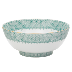 Green Lace Round Bowl