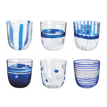 Load image into Gallery viewer, I Diversi Glass, Set of 6