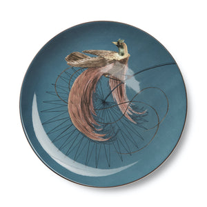 Birds of Paradise Blue Plate