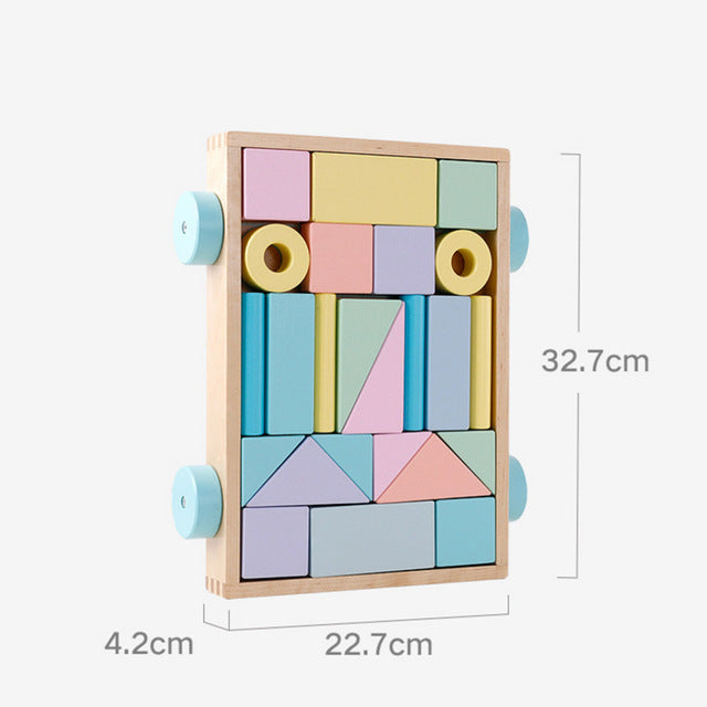 Wooden Building Blocks Sensory Toy - walker