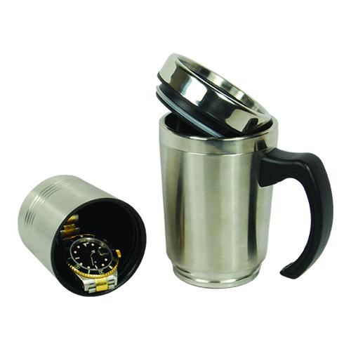 Stainless Steel Coffee Mug Diversion safe