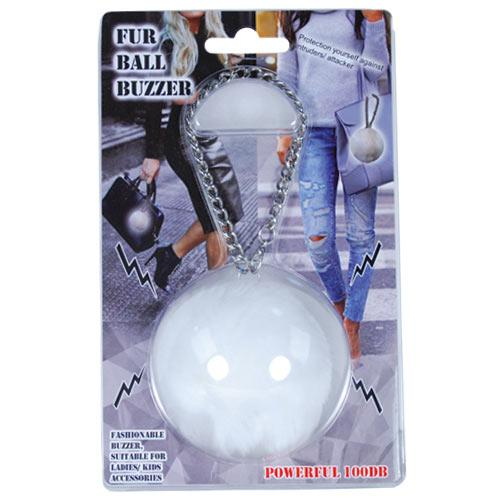 Fur Ball Buzzer White