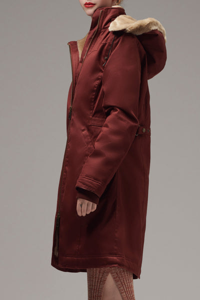 HoodLamb Long Coat