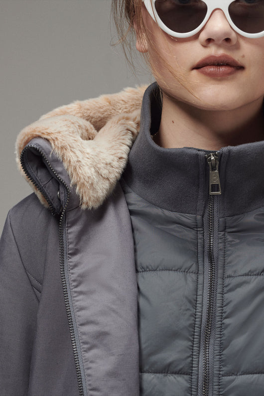 Ladies 2-1 Long Puffer