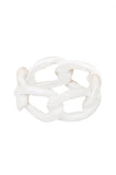 Marshmallow Dipped Chain Link Ring - My Jewel Candy - 1