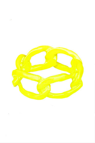 Lemon Dipped Chain Link Ring - My Jewel Candy - 1