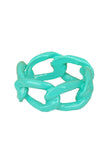 Mint Dipped Chain Link Ring - My Jewel Candy - 1