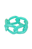 Marshmallow Dipped Chain Link Ring - My Jewel Candy - 3