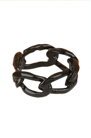 Liquorice Dipped Chain Link Ring - My Jewel Candy - 1