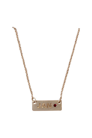 Birthstone & Month Necklaces - My Jewel Candy - 1